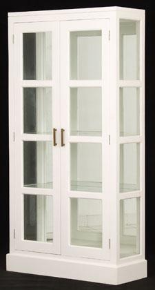 2 door mirror back display cabinet country interiors. Black Bedroom Furniture Sets. Home Design Ideas