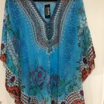 silk kaftan top