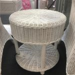 cane side table